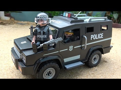 Police Cars Toys for Children - Playmobil City Action Tactical Unit Car