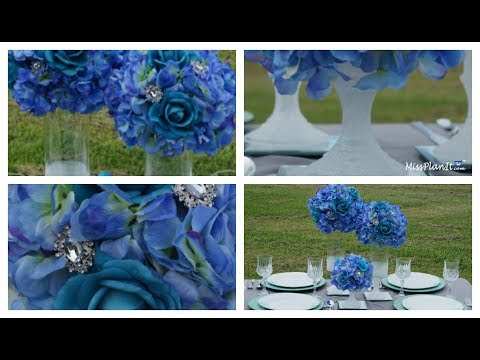 Dollar Tree DIY  Inspired Glitz Wedding Centerpiece  |  DIY Weddings |  DIY Wedding Tutorial