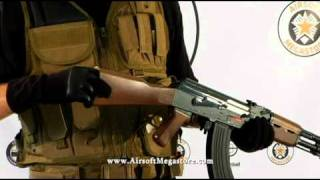 airsoft megastore review jg ak47 ak 47 tactical metal gearbox aeg rifles model line up review