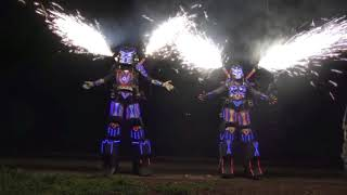 Animazione robot led aliena professionale