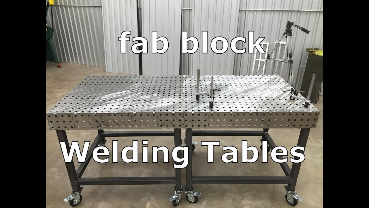 How To Build A Welding Table Fabblock Metalwork Monday