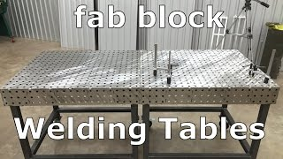 How to Build a Welding Table - Fabblock - Metalwork Monday