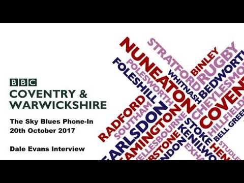 Dale Evans BBC CWR Interview - 20th October 2017