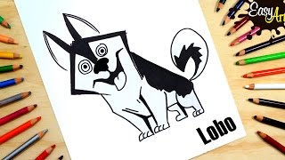 Cómo dibujar un perro lobo│how to draw a Wolf dog│ How To Draw