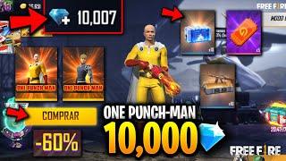 Está RECARGA De 10,000 DIAMANTES ME DA La TIENDA MISTERIOSA En FREE FIRE! (ONE PUNCH-MAN)