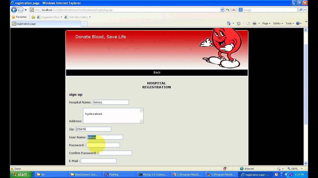 Blood Donors Blood Bank Management System Java Project