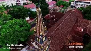 Nhà Thờ Gỗ ( Chính Tòa ) Kon Tum - Nhìn từ trên cao (Flycam)