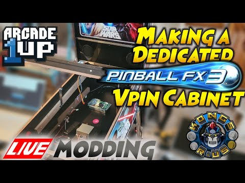 Turning Arcade1Up Star Wars Pinball into FULL PinballFX3 Cab - LIVE Modding Session from Kongs-R-Us