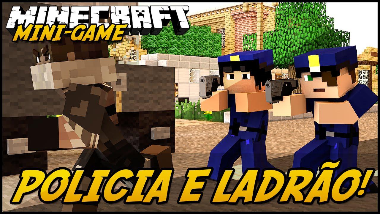 Minecraft Com The Game : Minecraft polÍcia e ladrÃo mini game youtube