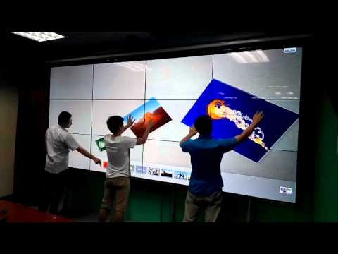 Big Size IR Multi touch screen Interactive Wall