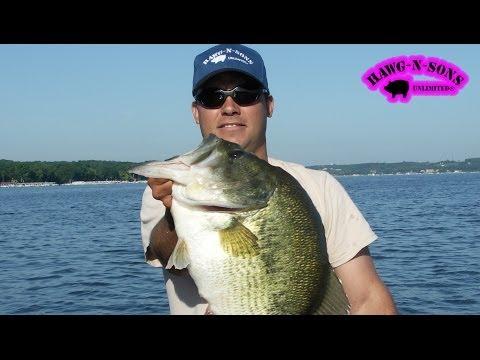 Catching BIGGEST Lake Geneva Bass Fishing - HawgNSonsTV