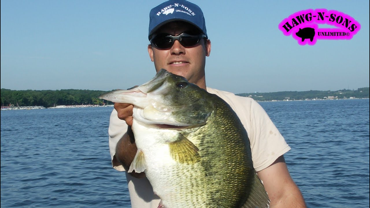 Catching biggest lake geneva bass fishing hawgnsonstv for Lake wisconsin fishing