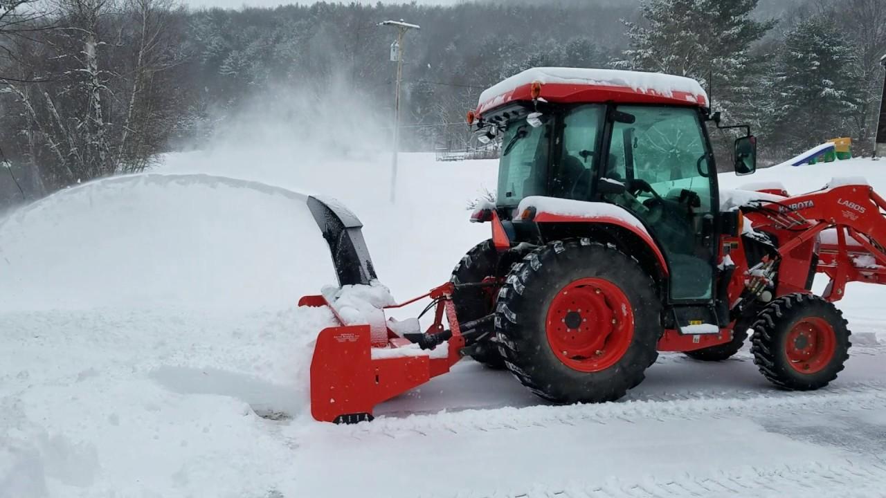 Kubota L Blowing Snow