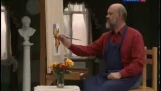 Уроки рисования с Сергеем Андриякой    Розы на фоне I