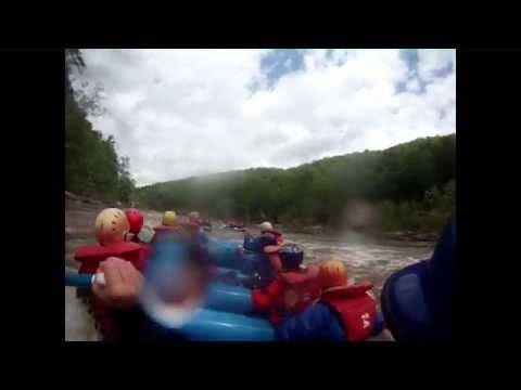 Whitewater Rafting the Cheat River Narrows at 8 foot