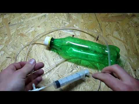 Как сделать вакуумный насос. Простой насос из шприца /  How to make a vacuum pump
