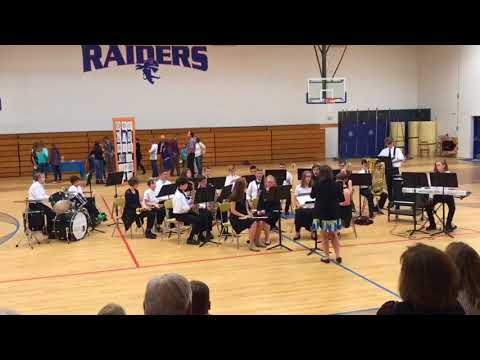 Rugby Middle School Jazz Band Performance 05/08/18