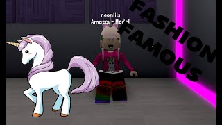 ROBLOX FASHION FAMOUS AMAZING GAMEPLAY