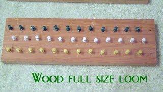 How To Make Homemade Rainbow Loom - Diy Wooden Bracelet Loom Using Thumb Tacks