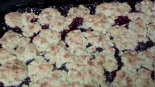 Gluten Free Dessert Recipe-blackberry And Blueberry Cobbler -sparky's Kitchen
