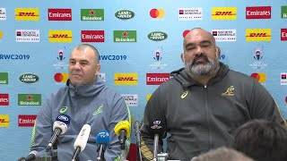 Cheika discusses team selections ahead of England quarter-final thumbnail