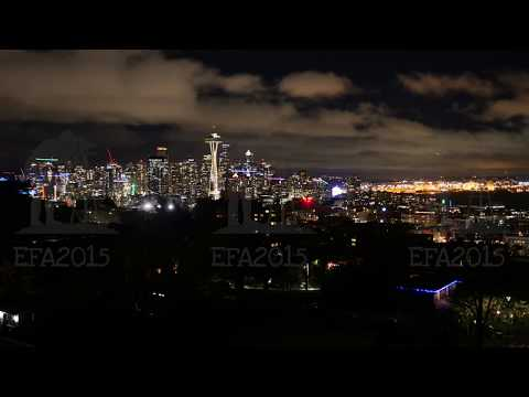 Seattle skyline and cityscape time-lapse with Space Needle