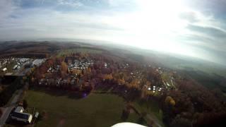 Vliegen boven camping Fuusekaul (Heiderscheid) in Luxemburg