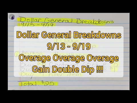 Dollar General Breakdowns 9/13-9/19. Overage, Overage, Overage !!!
