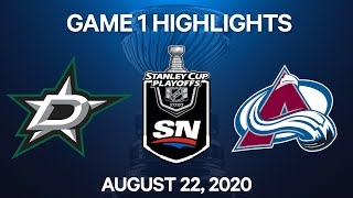 NHL Highlights | 2nd Round, Game 1: Stars Vs. Avalanche – Aug. 22, 2020