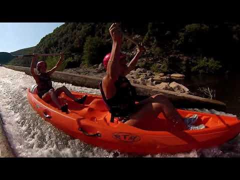 Carte Bleue Kayak.Canoe Roquebrun Location Kayak Site Officiel Canoe France