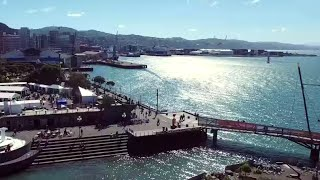 DRONE ABOVE WELLINGTON WATERFRONT