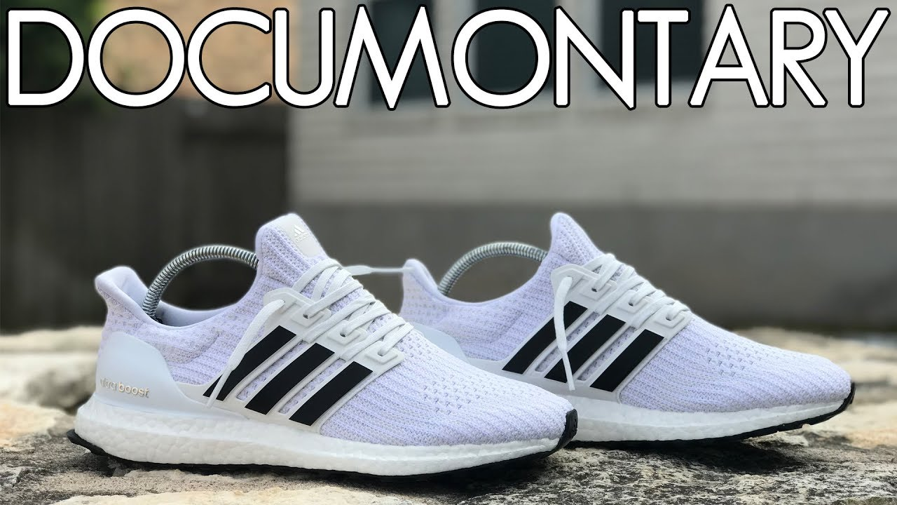 5ffd116105305 Boosted Stripes + adidas Ultra BOOST 4.0 Triple White • Step by Step    On-Feet