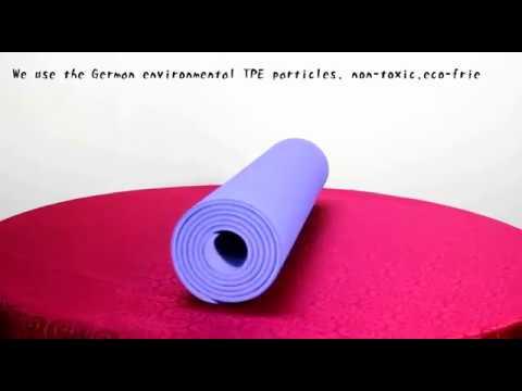 Нескользящий коврик для йоги и фитнеса TPE+TC, двухслойный, 6 мм