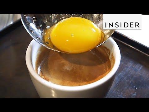 We Tried Egg Yolk Coffee