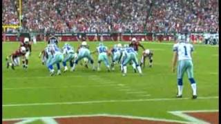Arizona cardinals blockes punt to win the game over the boys