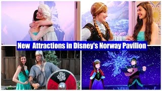 new attractions in disney s epcot norway frozen ever after ride anna and elsa at royal somerhus