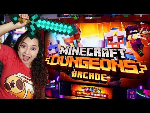There's a Minecraft Arcade Game?! - Minecraft Dungeons Arcade |