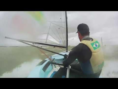 Offshore power Finn sailing with Jorge Zarif at the Finn Europeans in Cádiz