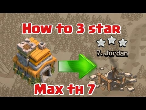 Clash Of Clans | Best War Attack Strategy TH 7 (TOWNHALL 7) |