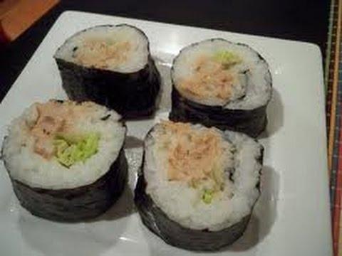 Resep Sushi Tuna Salad Crispy Praktis Youtube