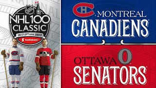 Anderson, Sens blank Habs in NHL100 Classic