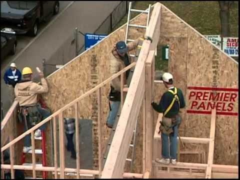 Setting The Glulam Ridge Beam And Structural Insulated
