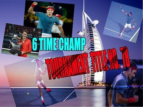 ROGER FEDERER -DUBAI 2014 (TOURNAMENT TITLE 78 !!!)