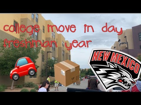 UNM freshman year college move-in day!! *EMOTIONAL*