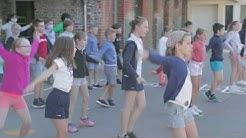 Flashmob Ecole Notre-Dame enclos Saint-Omer