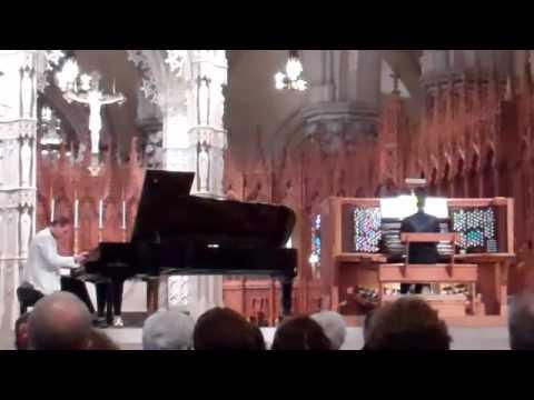 Rachmaninov Piano Concerto No. 2, (1st Mvt) Jeremy Filsell piano, Nigel Potts organ, Part 1/3