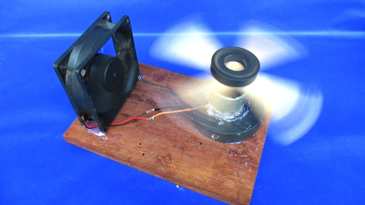 how to make free energy magnets generator with pc fan