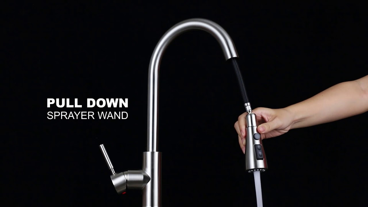 WEWE kitchen faucet Installation and usage instruction,Best seller in  Amazon Touch on Kitchen fauet