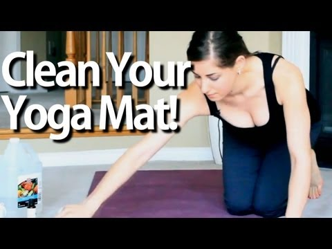 Clean Your Yoga Mat! Fitness Equipment Cleaning Ideas That Save Time & Money! (Clean My Space)