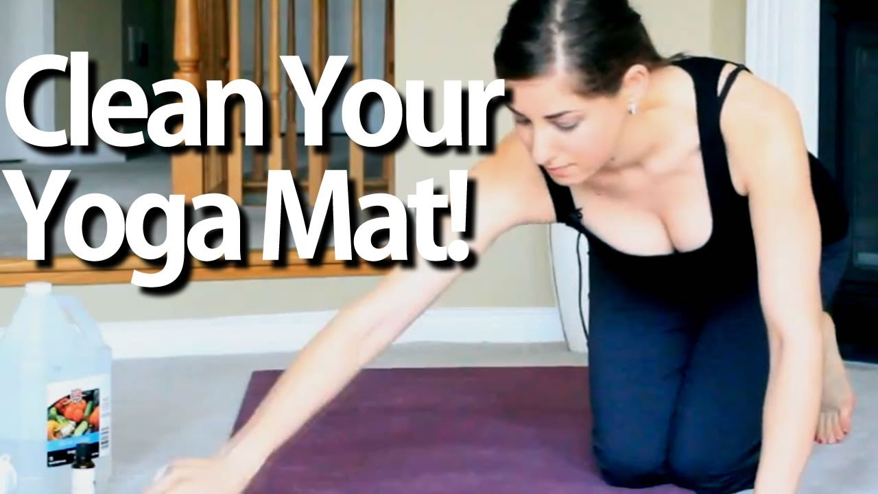 Clean Your Yoga Mat Fitness Equipment Cleaning Ideas That